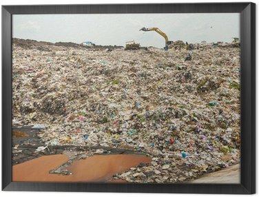Obraz w Ramie Midden ścieków, śmieci, zanieczyszczenia, Bad Życie