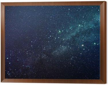 Obraz w Ramie Milky Way gwiazdy w nocy