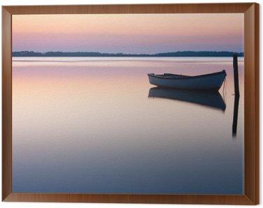 Obraz w Ramie Mistyczne morze. Streszczenie naturalne tła. Księżyc scena po słońcu