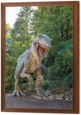Obraz w Ramie Model z dużym Tyranosaurus rex dżungli