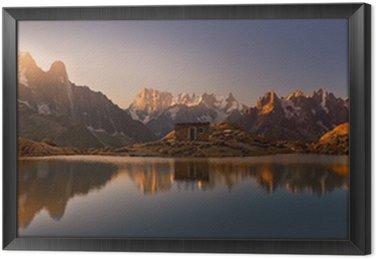 Obraz w Ramie Mont Blanc oraz Alpy odzwierciedlone w White Lake