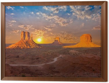 Obraz w Ramie Monument Valley sunset chmury