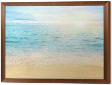 Obraz w Ramie Morze i piasek w tle