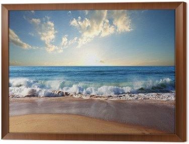 Obraz w Ramie Morze zachód słońca