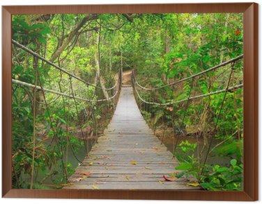 Obraz w Ramie Most do dżungli, park narodowy Khao Yai, Tajlandia