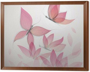 Motyl jak kwiat / surrealistycznej tle kwiatów