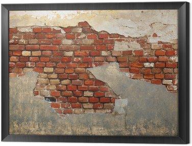 Obraz w Ramie Mur starej cegły