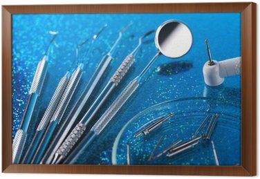 Obraz w Ramie Narzędzia stomatologiczne