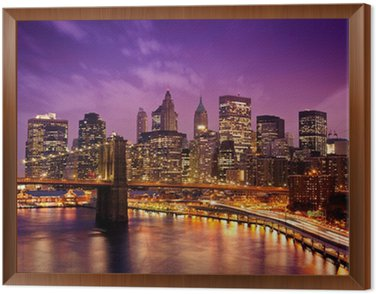 Obraz w Ramie New York Manhattan Pont de Brooklyn