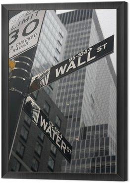 Obraz w Ramie New York Wall Street