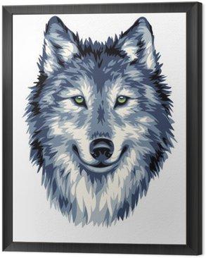 Obraz w Ramie Niebieski Wilk dzikich