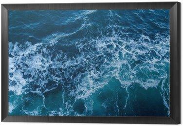 Obraz w Ramie Niebieskie morze tekstury z fal i piany