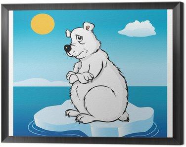 Obraz w Ramie Niedźwiedź polarny globalne ocieplenie