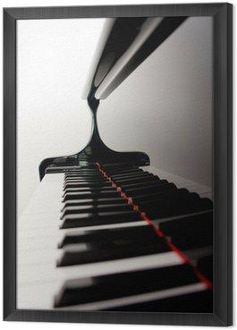 Obraz w Ramie Niewyraźne Keys Piano