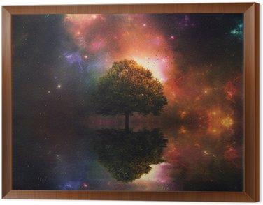 Obraz w Ramie Nocne niebo i drzewa