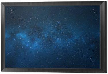 Obraz w Ramie Nocne niebo - wszechświat pełen gwiazd, mgławic i galaktyki