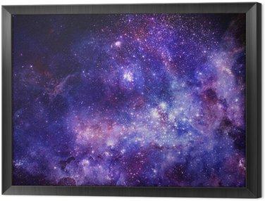 Obraz w Ramie Obłok gazu mgławica w głębokiej przestrzeni kosmicznej