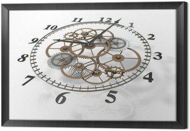 Obraz w Ramie Obraz 3d zegar