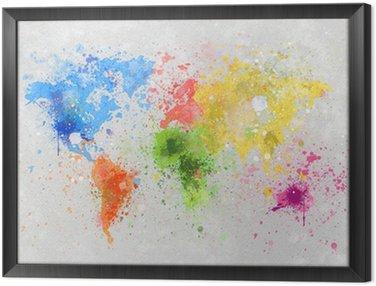 Obraz w Ramie Obraz mapa świata