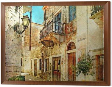 Obraz w Ramie Obrazkowych stare uliczki Grecji