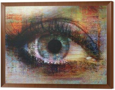 Obraz w Ramie Oczy tekstury