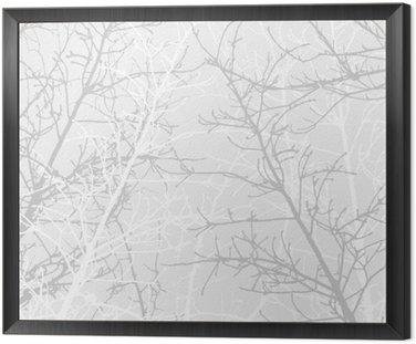 Obraz w Ramie Oddziały wzór tekstury. Miękkie tło.