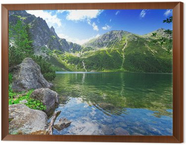 Obraz w Ramie Oko jeziora morza w Tatrach, Polska