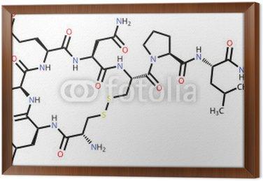 """Obraz w Ramie Oksytocyna """"hormon miłości"""" wzór strukturalny"""