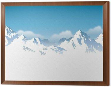 Obraz w Ramie Ośnieżone góry - tło