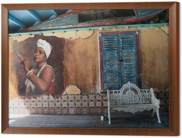 Obraz w Ramie Ozdobny białe kute ławki