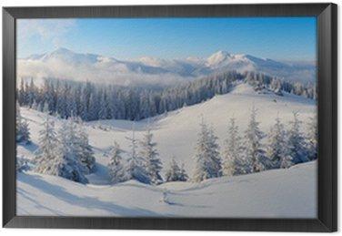 Obraz w Ramie Panorama gór zimowych