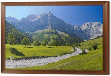 Obraz w Ramie Panorama Landschaft w Bayernie