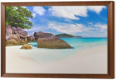 Obraz w Ramie Panorama tropikalnej plaży scenerii, Tajlandia