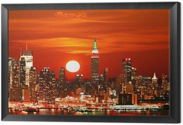 Obraz w Ramie Panoramę Nowego Jorku