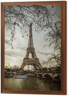 Obraz w Ramie Paris tour eiffel sunset