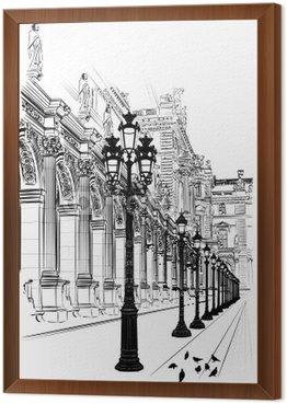 Obraz w Ramie Paryż: klasycznej architektury