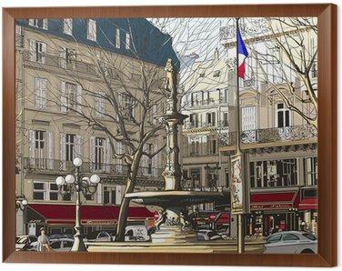 Obraz w Ramie Paryż - Pałac Królewski