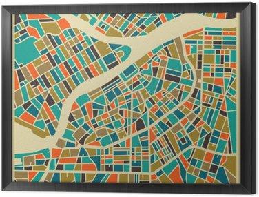 Obraz w Ramie Petersburg map wektorowych. Kolorowe rocznika podstawy projektowania karty podróży, reklamy, prezent lub plakatu.