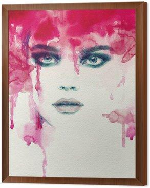 Obraz w Ramie Piękna kobieto. Akwarele ilustracji
