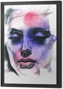 Obraz w Ramie Piękna kobieto. ręcznie malowane ilustracji mody