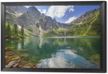 Obraz w Ramie Piękne krajobrazy Tatr i jezioro w Polsce
