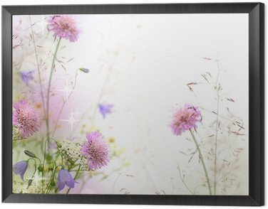 Piękne pastelowe kwiatów granicy - niewyraźne tło