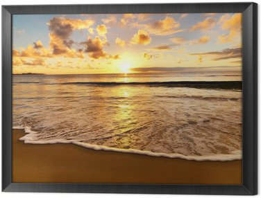 Obraz w Ramie Piękny zachód słońca na plaży