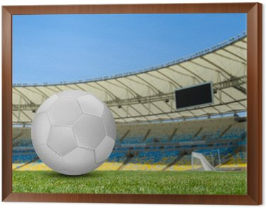 Obraz w Ramie Piłka nożna na boisku