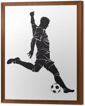Obraz w Ramie Piłka nożna (soccer) gracz z piłką