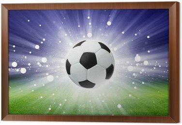 Obraz w Ramie Piłka nożna, stadion, światło