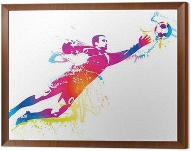 Piłkarz łapie piłkę