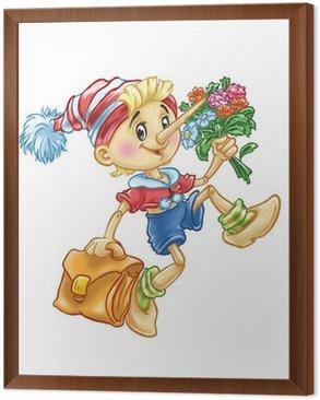 Obraz w Ramie Pinokio idzie do szkoły