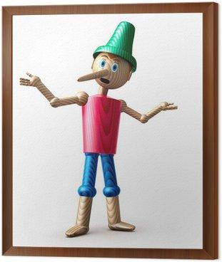 Obraz w Ramie Pinokio vor weiss