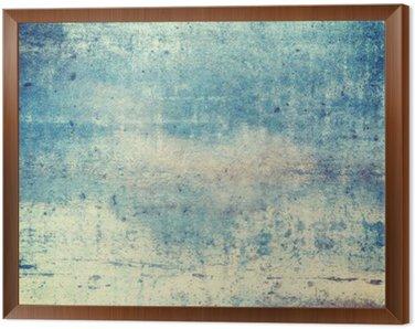 Obraz w Ramie Pionowo zorientowane w kolorze niebieskim tle grunge
